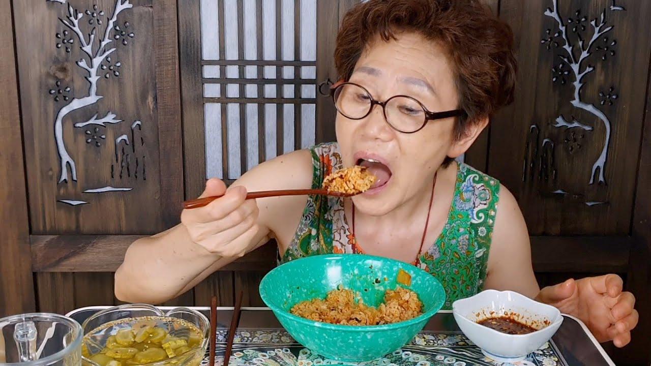 집밥먹방) 양념장에 쓱쓱 비벼먹는 김치밥 먹방 ASMR_리얼사운드