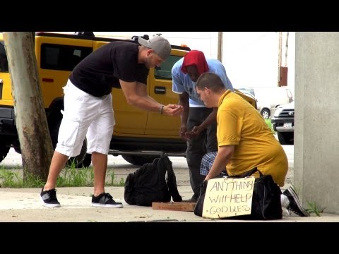Homeless Jackpot Prank