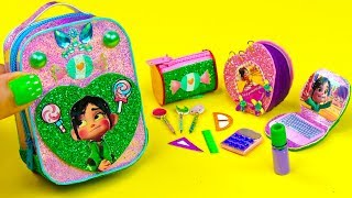 DIY Miniature Wreck It Ralph School Supplies ~ Backpack, Pencil Case and More Video