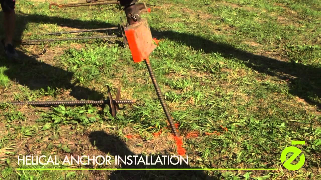 Helical Anchor Installation