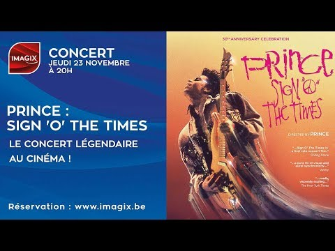 CONCERT : Prince - Sign 'o' the times