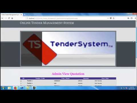 Online Tender Management System   Student Projects