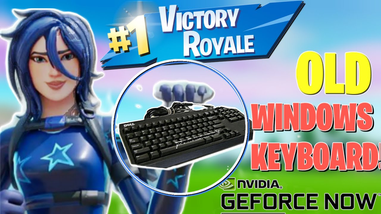I Connected My Old Windows Keyboard To Geforce Now!  (Meme Edition!) #WindowsKeyboard