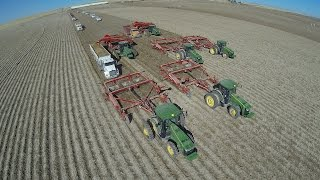 16 row Potato Harvest with John Deere and Spudnik