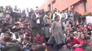 Prakash Karat speaks in JNU in support of Stand With JNU