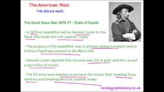 American West - The Indian Wars - The Great Sioux War