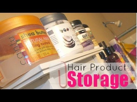 Natural Hair Product Storage: Shelving For Product Junkies
