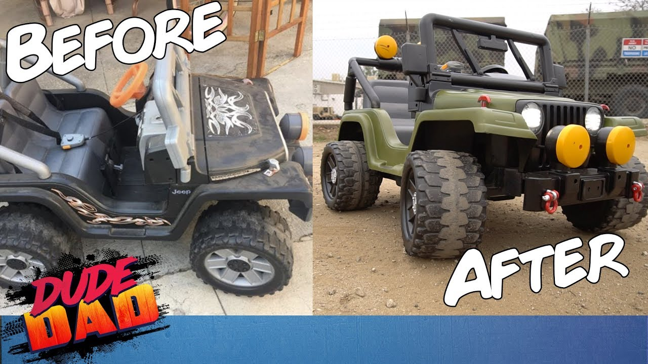 Restoring an old Power Wheels Jeep | Dude Dad on