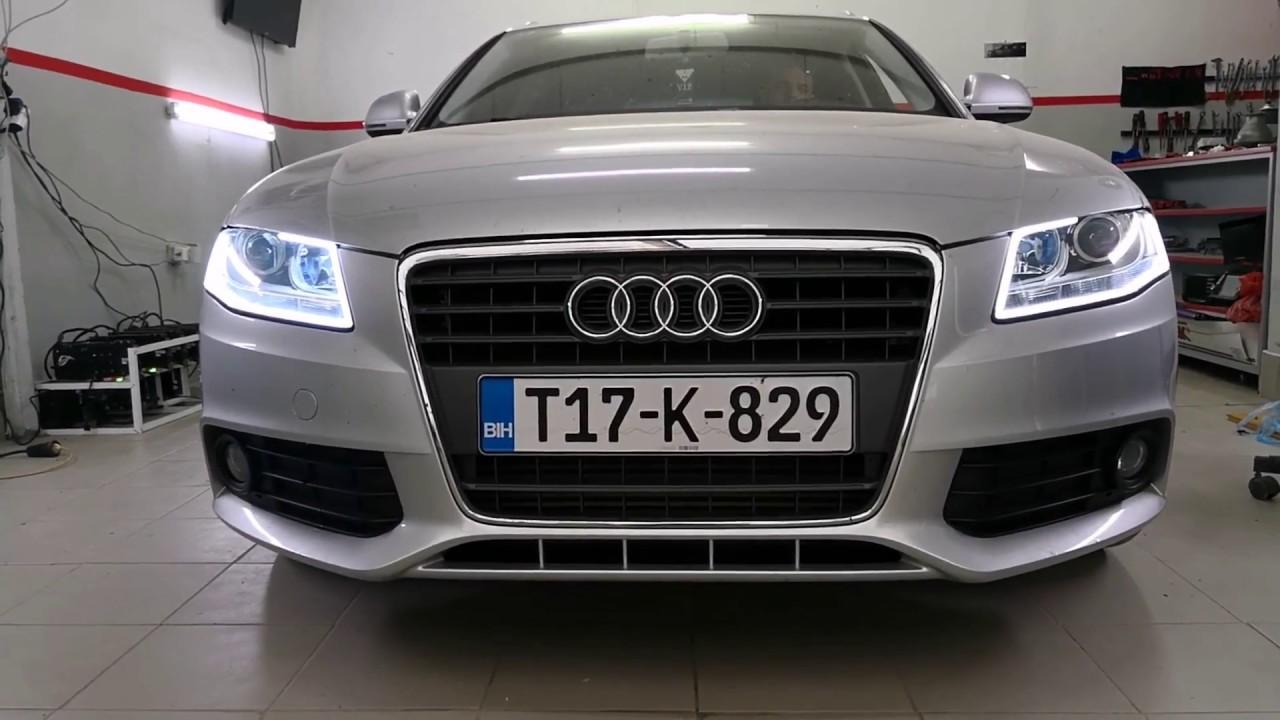 Audi A4 B8 Custom Headlight Daylight With Turn Signal By Xenon Carbon Garage