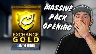 MASSIVE GOLD PACK OPENING! I MADE 100k STUBS! MLB The Show 18 | Diamond Dynasty