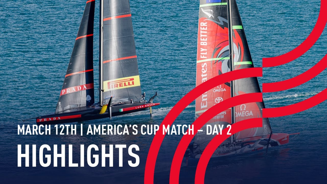 36th America's Cup Day 2 Highlights