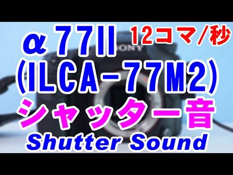 α77II(ILCA-77M2)のシャッター音(Shutter Sound) [12コマ/秒]