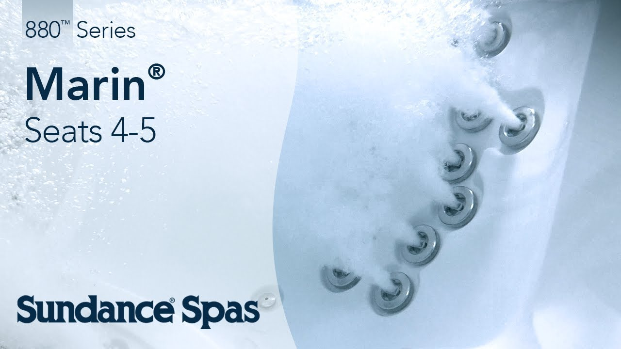 Marin® Hot Tubs: 880™ Series Spa (seats 5) - YouTube