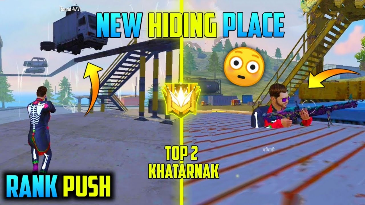 New Top Secret Hiding Place In Free Fire [Rank] - TSG Singh Gamer