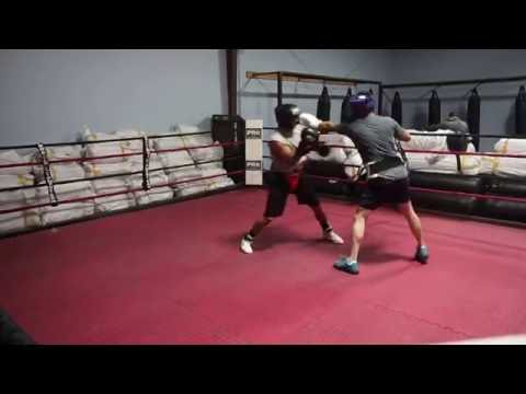 Sparring at Bakersfield Boxing and Fitness Club