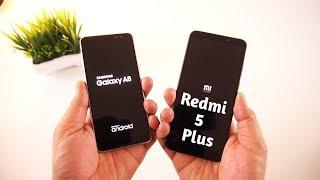 Galaxy A8 2018 vs Redmi 5 Plus Speed Test & Comparison [Urdu/Hindi]