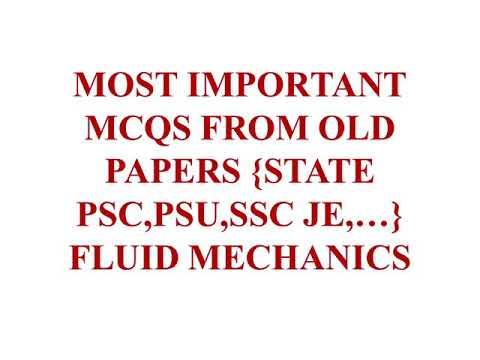 Most Important Questions For SSC JE, Fluid Mechanics,Part 32