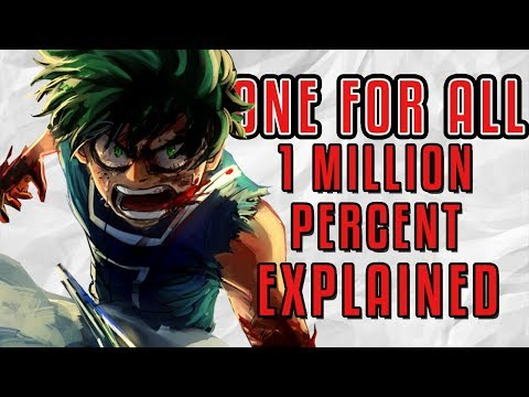 One For All 1 Million Percent Explained  My Hero Academia