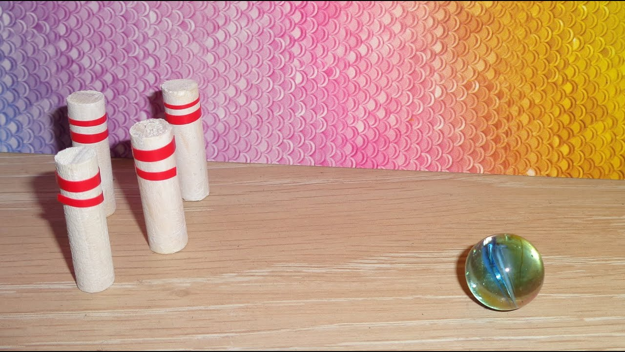 Miniature Bowling Ball and Pins - DIY LPS Crafts, Easy Doll Crafts &  Dollhouse Accessories