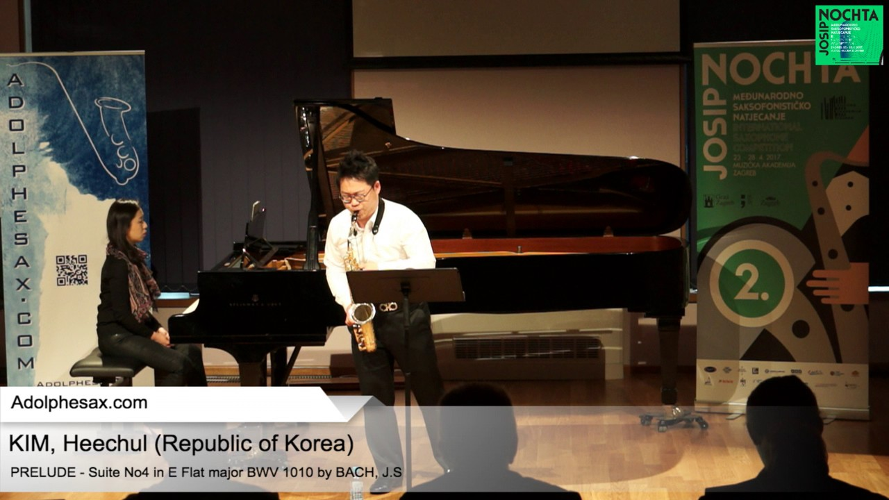 Johann Sebastian Bach   Suite No 4 in E  at major BWV 1010 Pre?lude –  KIM, Heechul Korea