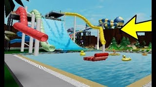 OPENED THE ROBLOX WATER SLIDE PARK!!!