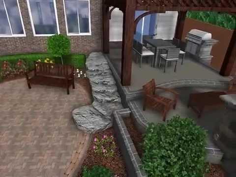 Landscape Design 3d Digital Walkthrough Open Air Pergola