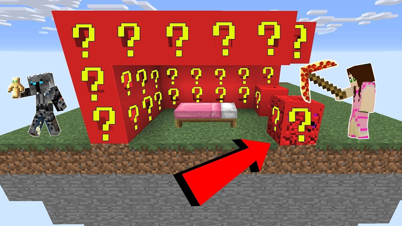 Minecraft Roblox Lucky Block Bedwars Modded Mini Game Youtube