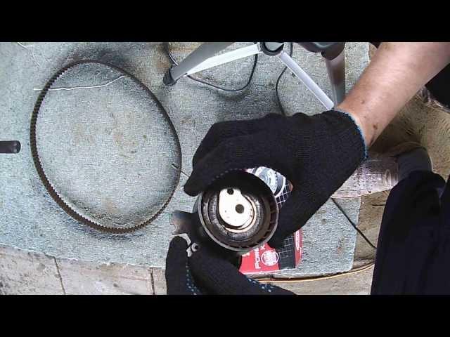 Фото к видео: Tu5jp4(NFU) ремнь ГРМ, помпа, ремнь навесных агрегатов