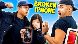 Breaking Strangers iPhone & Giving Them iPhone 11 (Part 2)