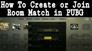 PUGB Mobile or Pc Room Match Settings in tamil