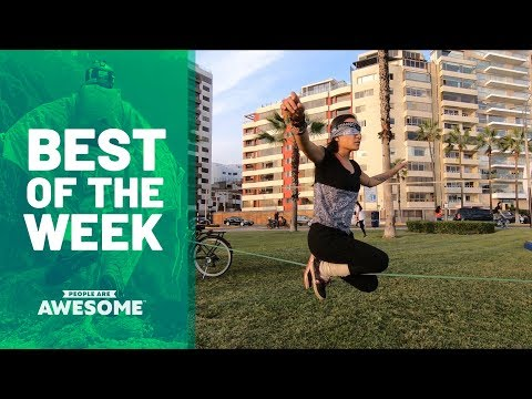 Best of the Week: Slackline Tricks & Amputee Powerlifting | People Are Awesome