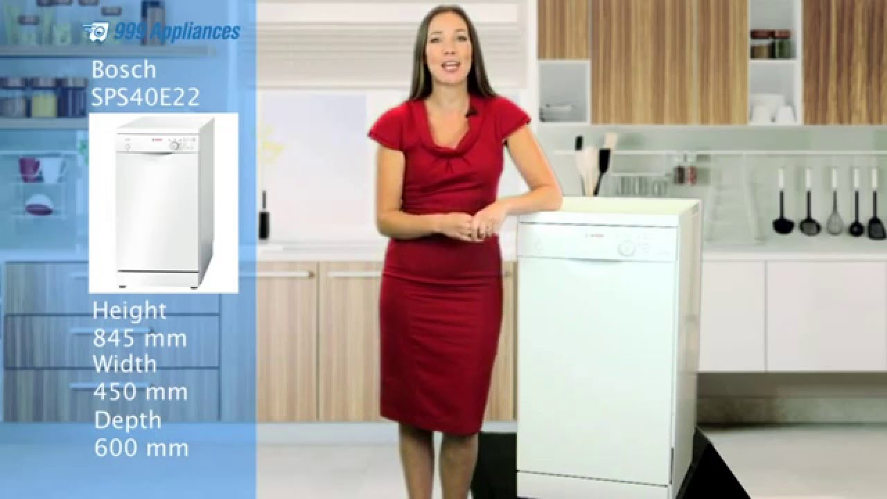 Bosch sps e gb cm wide dishwasher review youtube