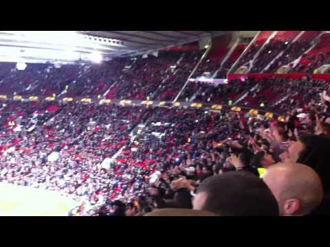 Manchester United - Ajax 23-02-2012, Ajax supporters singing Bob Marley Three little birds