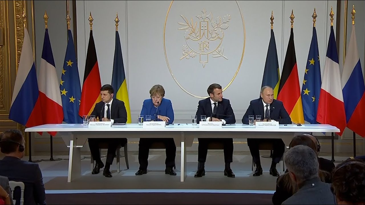 News conference following the Normandy format summit