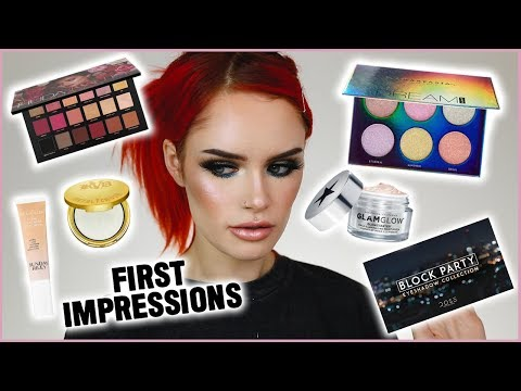 TRYING NEW MAKEUP! | FULL FACE OF FIRST IMPRESSIONS!