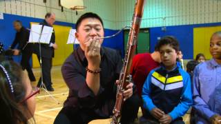 Baltimore Symphony Orchestra Musicians Work with Highland Elementary School Students
