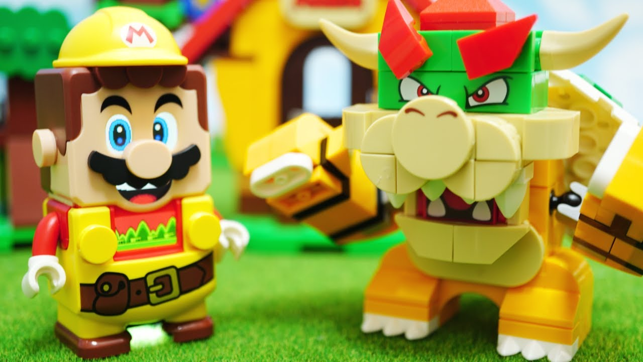 LEGO Super Mario「Power-Up Pack Builder Mario」レゴ スーパーマリオ  | パワーアップ ビルダーマリオ パック stop motion anime