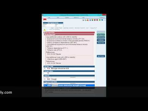 ICD 10 3M Tutorial Coding Croup Medical Diagnosis | The Remo