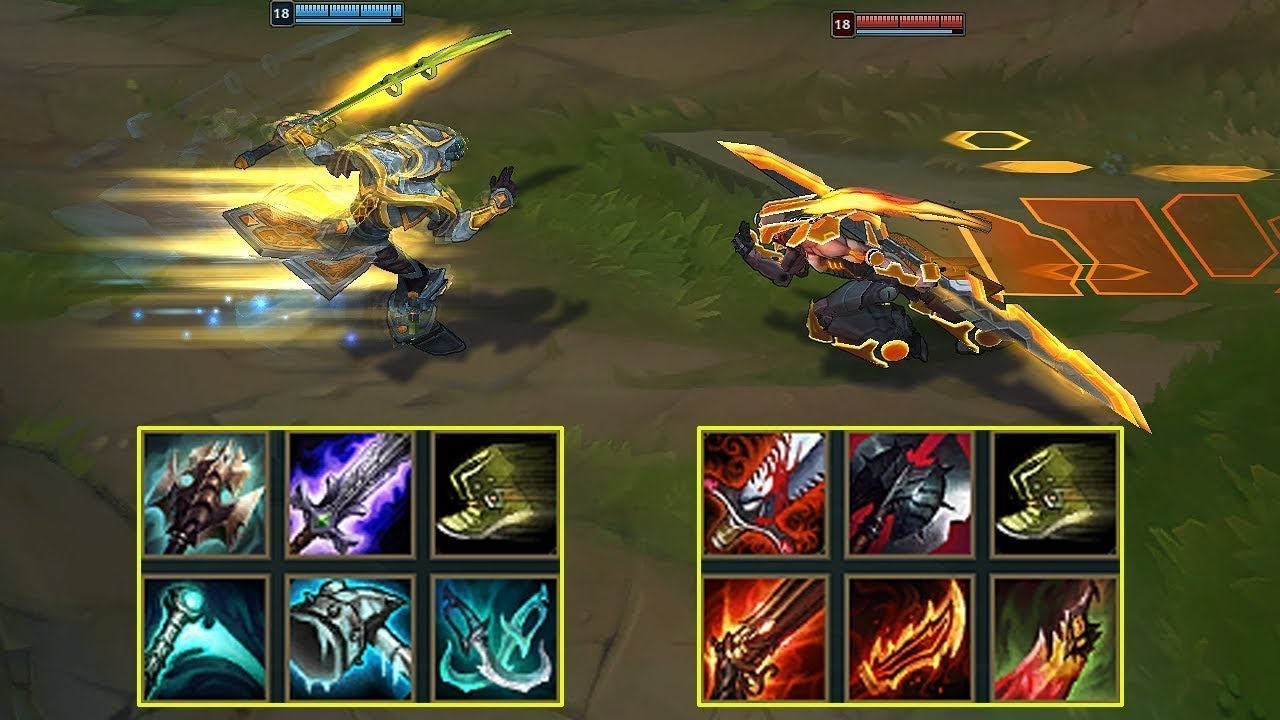BLUE YI vs RED YI FULL BUILD SOLO - League of Legends