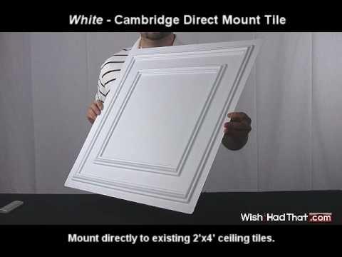 White Cambridge Direct Mount Tile