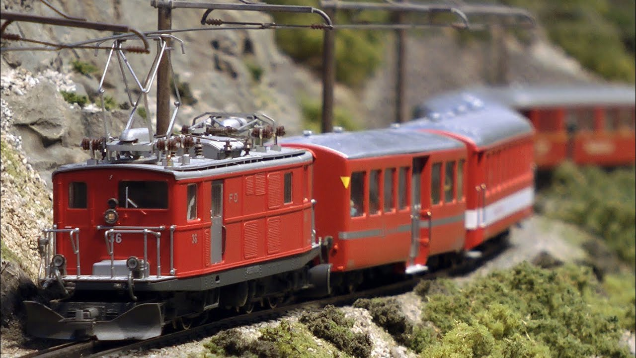 Traumhafte Modellbahn Furka Oberalp Modelleisenbahn