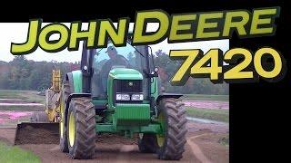 John Deere 7420 and Nammco Land Leveler Grading Road