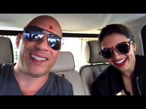Vin Diesel first time in India with Deepika (2017)