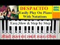 Despacito Play On Piano Keyboard With Notations Easy And Slow Piano Tutorial mp3