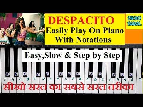 Despacito Play On Piano/Keyboard With Notations,Easy And Slow Piano Tutorial