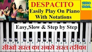 Download lagu Despacito Play On Piano/Keyboard With Notations,Easy And Slow Piano Tutorial