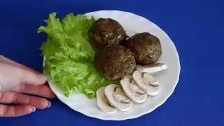 Рецепт мясных котлет с шампиньонами и шпинатом в кухонном комбайне VITEK VT-1621 W