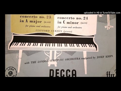 Mozart: Piano Concerto #24 (2nd mov.) by Clifford Curzon with London Symphony Orchestra under Josef
