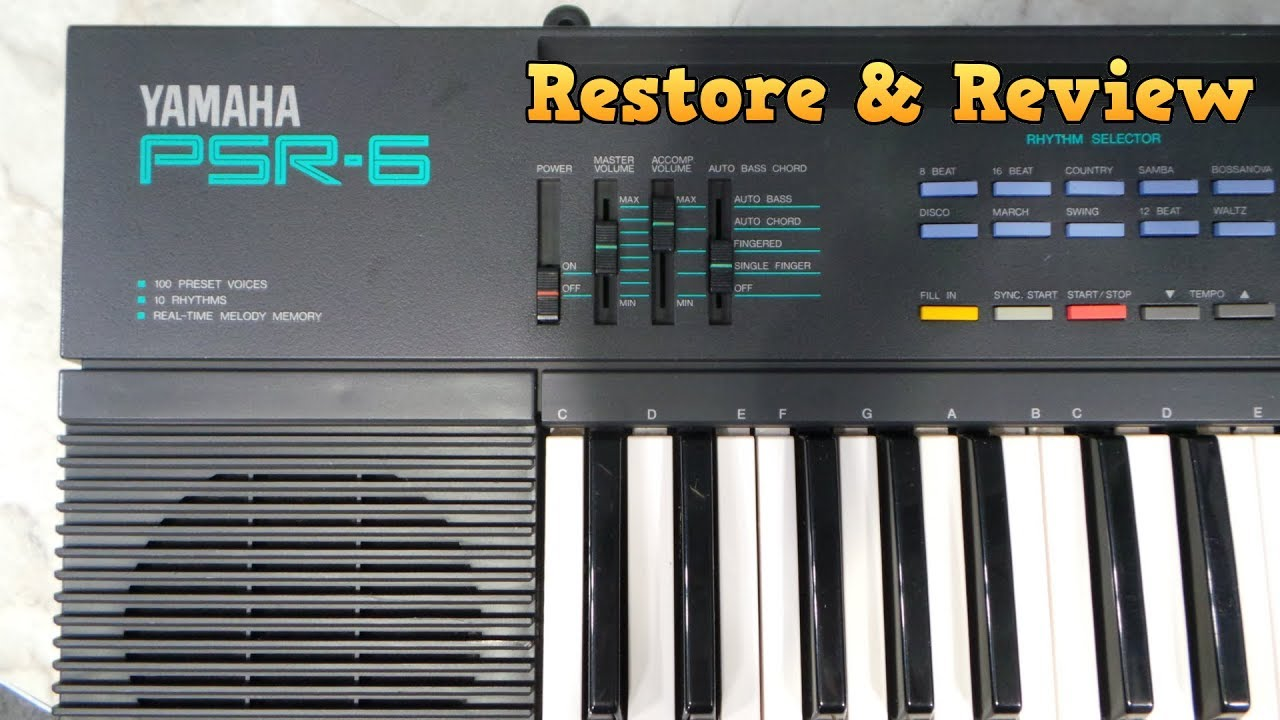 yamaha psr 6 restore and review youtube rh youtube com Yamaha PSR -19 Keyboard New Yamaha PSR 48 Keyboard
