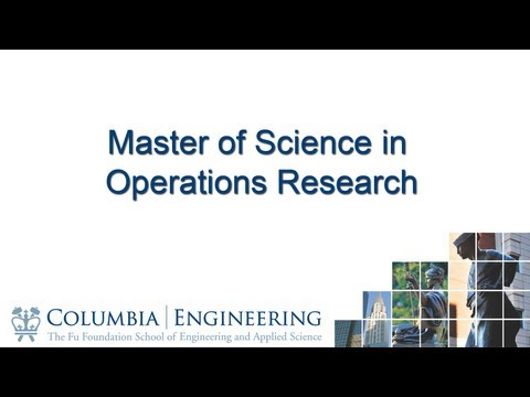 Master of Science Program in Operations Research